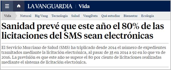 Servicio Murciano de Salud prevé que este año el 80% de las licitaciones del SMS sean electrónicas