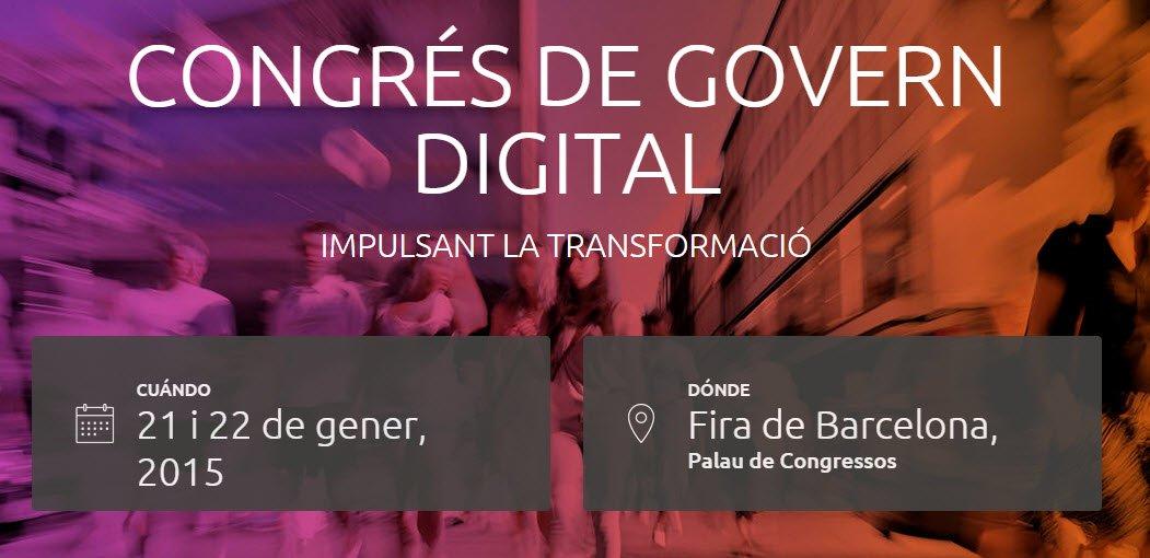 Congrés Govern Digital 2015 sobre Administración Electrónica